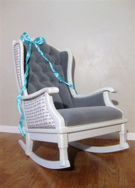 padded rocking chairs for nursery antique vintage nursery rocker rocking chair white grey