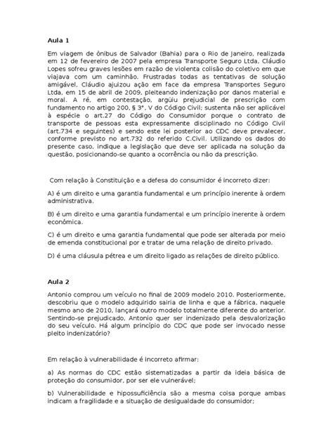 Casos Concretos - Direito Do Consumidor | Proteção ao