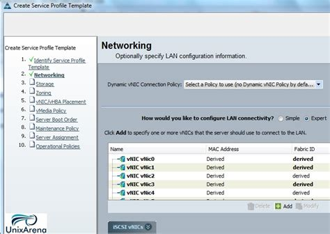 how to create service profile template on cisco ucs