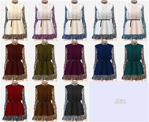 Jaket Vest Hoodie Xcom 2 Advent 3 my sims 4 knit vest dress by sims 4 marigold