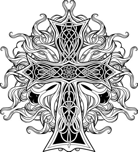 celtic cross with ribbon tattoo celtic cross tattoos