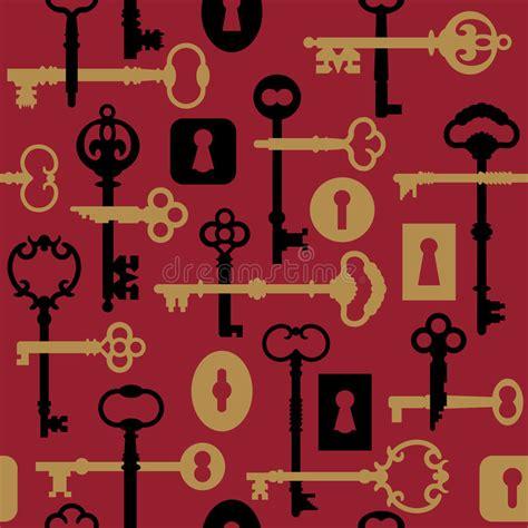 download key pattern skeleton key lock pattern red stock vector image 3722602