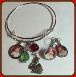 santa claus alex and ani inspired charm bracelet and