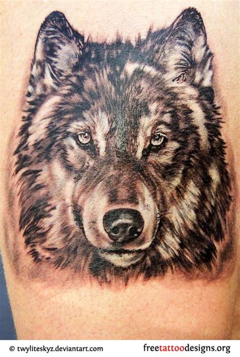 wolf head tattoos designs wolf tattoos