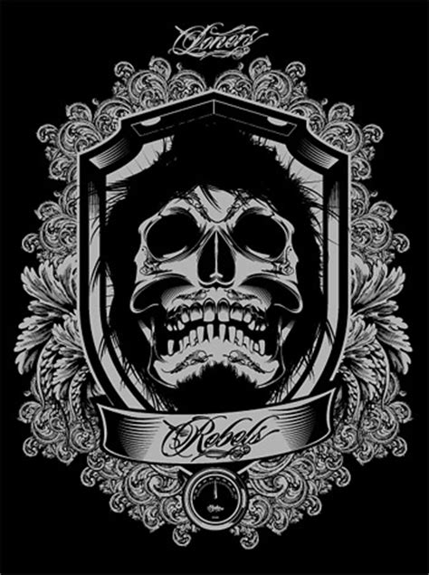 cool  european skull vector gorgeous lace material
