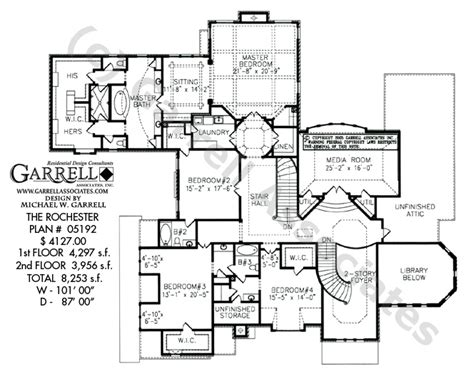 master up house plans rochester house plan dual master house plans