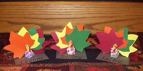 thanksgiving place card holder templates thanksgiving place card holders