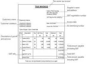 Invoice Template Singapore by Invoicing Customers Iras