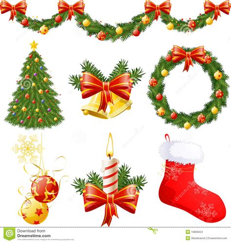 christmas decorations stock vector illustration of tree