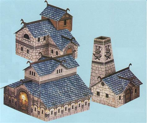 Warhammer Papercraft - warhammer clash of drong papercraft buildings by kaal979