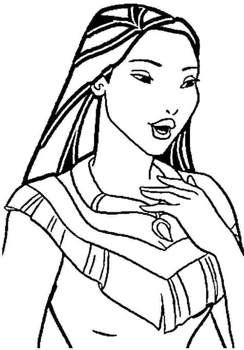 Disney Pocahontas Coloring Pages Coloring Home Princess Pocahontas Coloring Pages