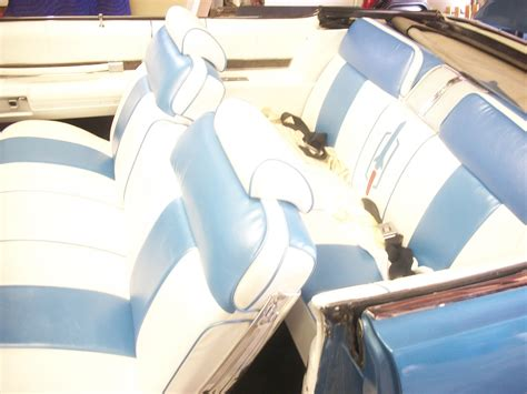upholstery job 1969 oldsmobile 88 convertable seats and door panels redo