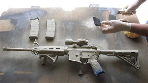 spray painting your ar15 how to camouflage a rifle ar15