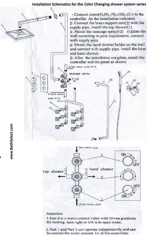 How To Install A Shower System by Temperature Sensor Color Changing Shower System With