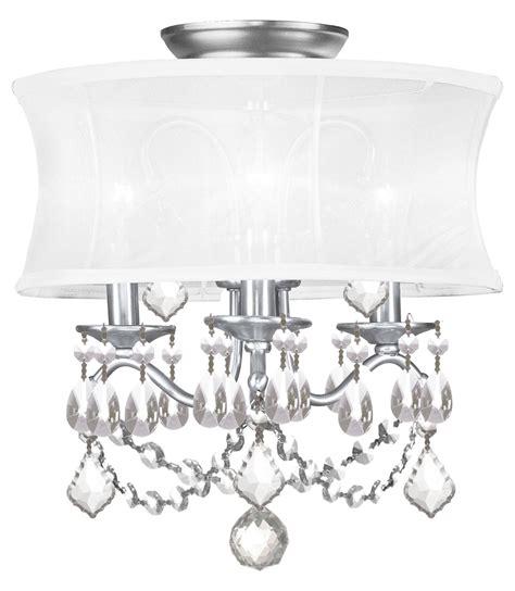 nickel semi flush ceiling lights livex lighting brushed nickel newcastle 3 light semi flush
