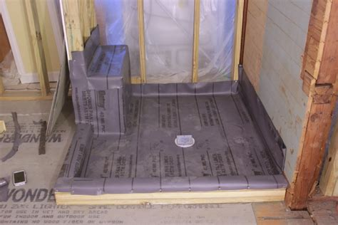 How To Install A Shower Base On A Wooden Floor by Installing A Pvc Shower Liner