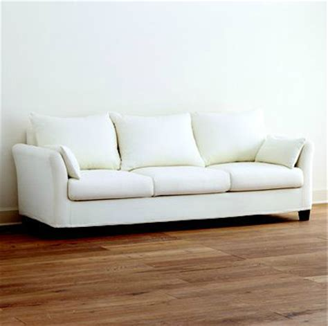 canvas slipcover sofa ivory canvas luxe three seat sofa slipcover collection