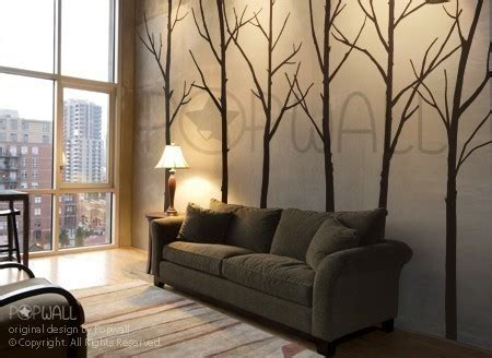 living room wall decal winter tree wall decal living room wall decals wall by nouwall