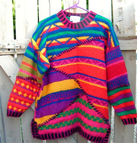 colorful sweaters colorful kenji sweater knit patchwork striped