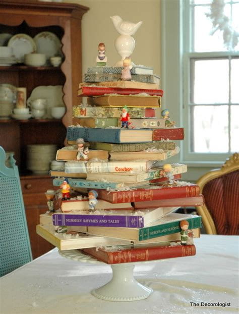 the great read decorating with books for christmas