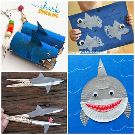 shark craft projects non scary shark crafts for to create crafty morning