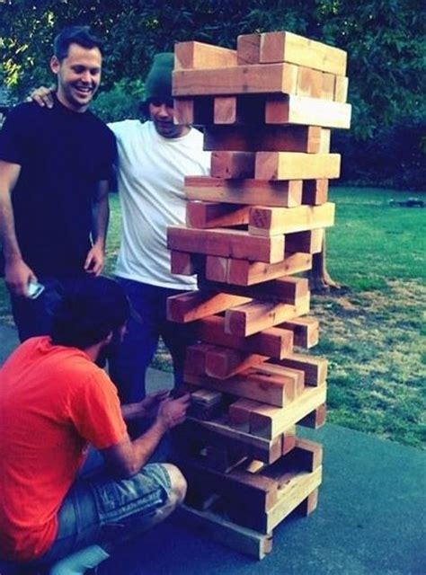 backyard jenga for sale giant quot wooden block stacking game quot tower game of