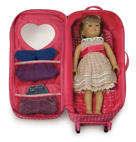 american doll travel bed 18 doll carrier trolley bed travel carrying suitcase storage american tote peyton