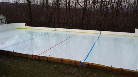 backyard hockey rink kits d1 backyard rinks synthetic ice basement or backyard