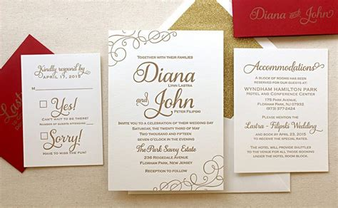 black and gold wedding invitations diy the casablanca suite classic letterpress wedding