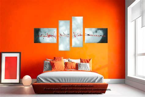 Superbe Chambre A Coucher Rouge #5: tableau-abstrait-mur-en-couleur-Evasion-c%C3%A9lestre.jpg
