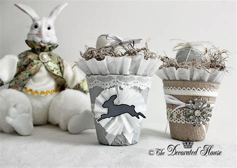 Colorful Peat Pot Favors 365 Days Of Crafts Inspiration - the decorated house easter decorations pretty decorated
