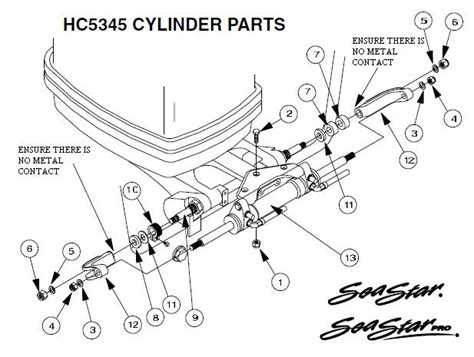 seastar hydraulic steering parts diagram sea hydraulic steering parts schematic sea get free