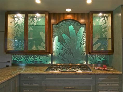 Kitchen Glass Designs Kitchen Glass Green Kitchen Backsplash Shiny Kitchen Backsplash Exploit The Glass Tiles