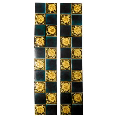 blue fireplace blue yellow floral fireplace tiles buy from vfs