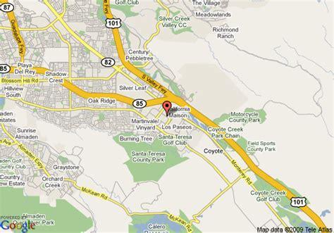 san jose south map map of residence inn san jose south san jose