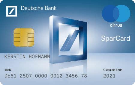 deutsche bank privatkunden sparcard deutsche bank privatkunden