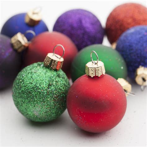small christmas balls mini assorted ornaments ornaments and winter crafts