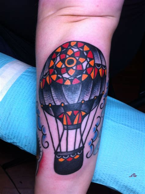 hot tattoos tumblr air balloon on