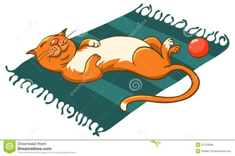 cat on a mat royalty free stock images image 27164699