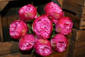 Artificial Roses Pink Artificial Peony Heavenlyhomesandgardens Co Uk