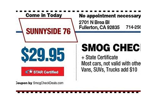 smog test coupons orange ca