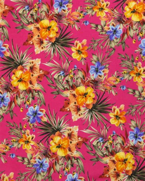 Tropical Fabric Prints For Upholstery by Cotton Lawn Fabric Tropical Print Fuchsia Truro Fabric