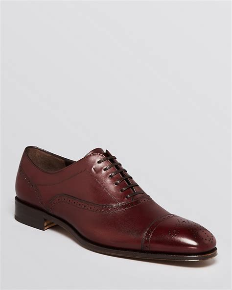 burgundy oxford shoes salvatore ferragamo csy cap toe lace up oxfords where to