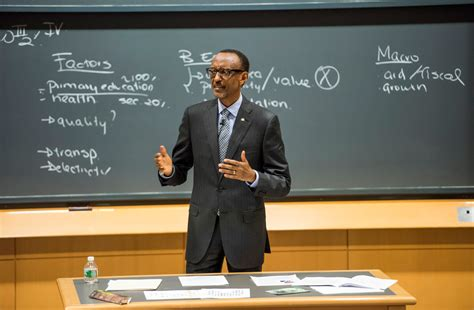 Mba Class President by President Kagame Speaking As Guest Lecturer At Harvard