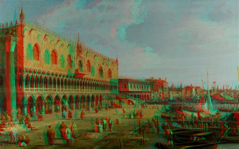 wallpaper 3d red cyan artistic place 3d anaglyph red cyan by fan2relief3d on