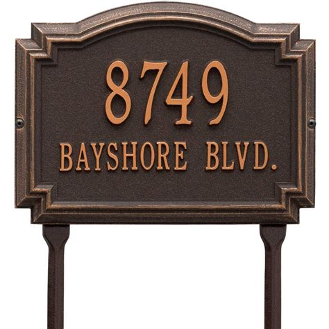 Address Plaques For Front Yard - williamsburg lawn address plaque in lawn address plaques