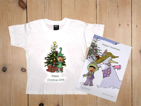 personalised christmas gift bundle including snowman book
