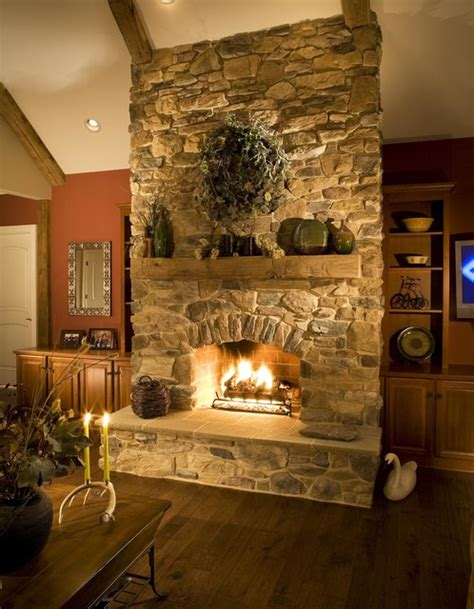 rustic stone fireplaces rustic stone fireplace