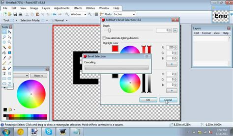 how to make a cool design on paint net