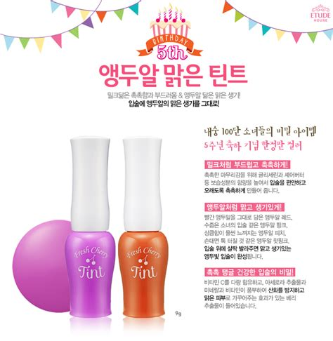 Harga Etude House Tint My Brow my world review etude house fresh cherry tint in
